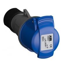 2CMA102003R1000 216EC6 Розетка кабельна 16A IP44 2P+E 6h WA/Industrial