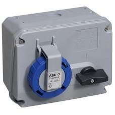 2CMA167848R1000 Розетка вимик+блок 32A 2P+E IP67 6г WA/Industrial