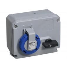 2CMA167801R1000 Роз.пов.вимик+блок 16A 2P+E IP67 6г WA/Industrial