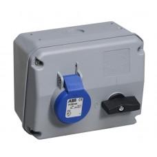 2CMA167669R1000 Роз.пов.вимик+блок 32A 2P+E IP44 6г WA/Industrial