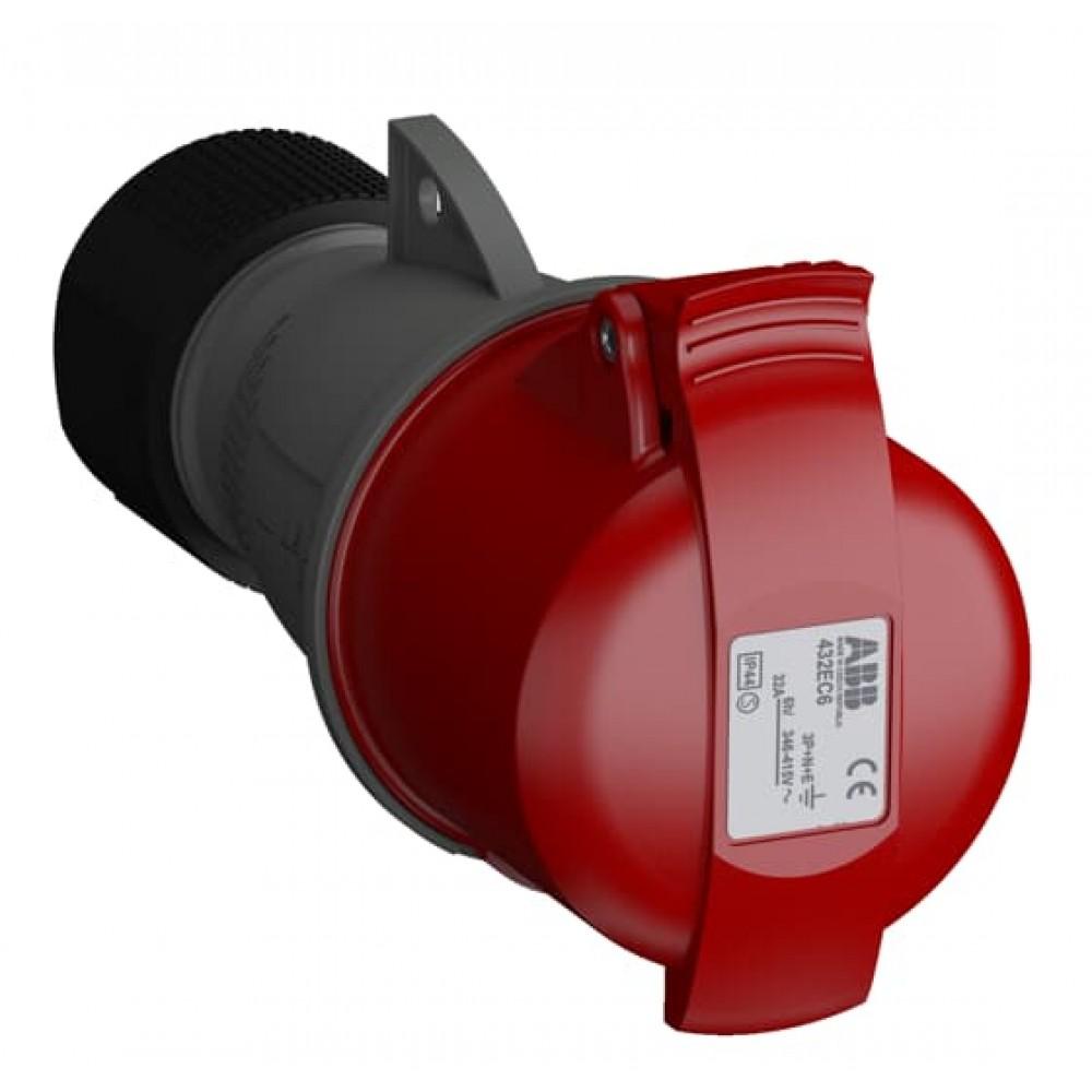 2CMA102051R1000 432EC6 Розет.кабельн.,32А,3P+N+E,IP44,6ч WA/Industrial