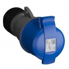 2CMA102031R1000 232EC6 Розетка кабельна 32A IP44 2P+E 6h WA/Industrial
