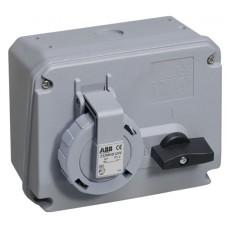 2CMA167803R1000 Розетка 16A 2P+E IP67 транс 12г бокс руб WA/Industrial