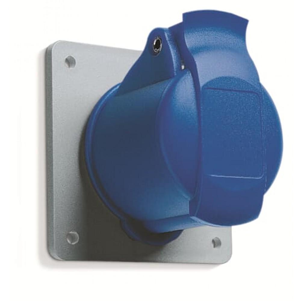2CMA193170R1000 Розетка на панель пряма 16А IP44 2Р+Е WA/Industrial
