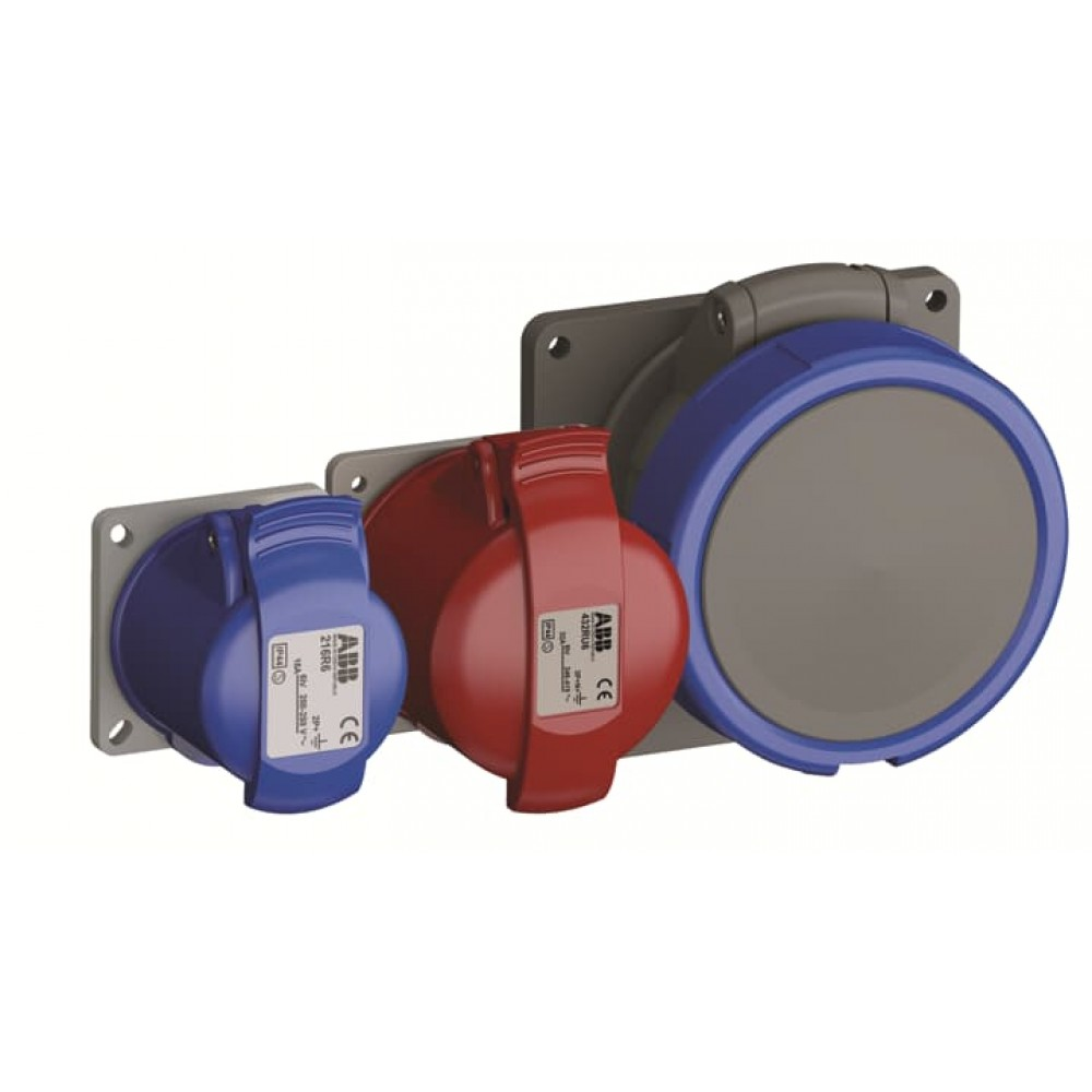 2CMA170012R1000 Розетка панель кут.фланець 16A 3P+E IP44 WA/Industrial