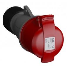 2CMA102012R1000 316EC6 Розетка кабельна 16A IP44 3P+E 6h WA/Industrial
